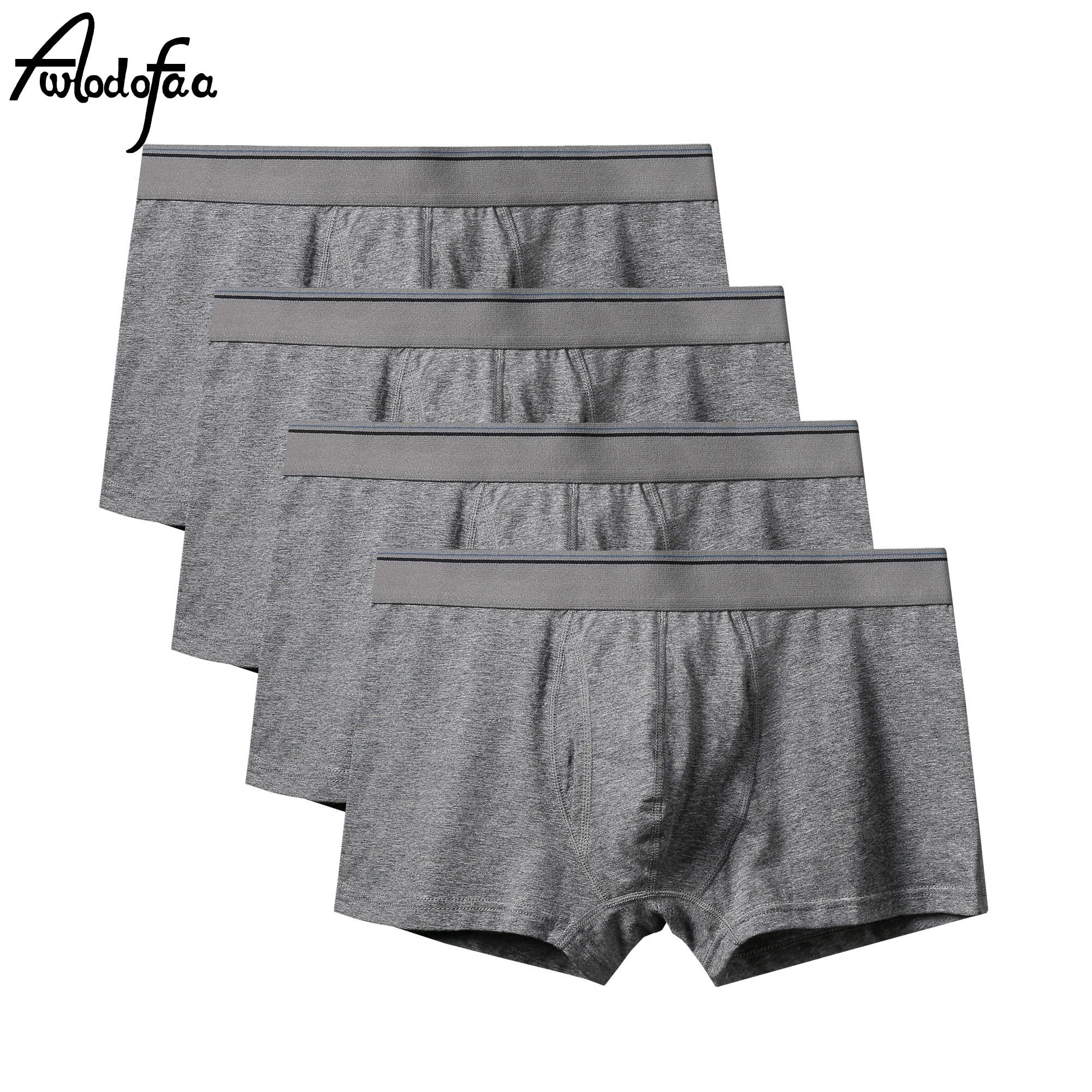 4Pcs/lot New Fashion Sexy Brand High Quality Cotton Men's Boxer Shorts Mr Plus Size Underwear Man Un