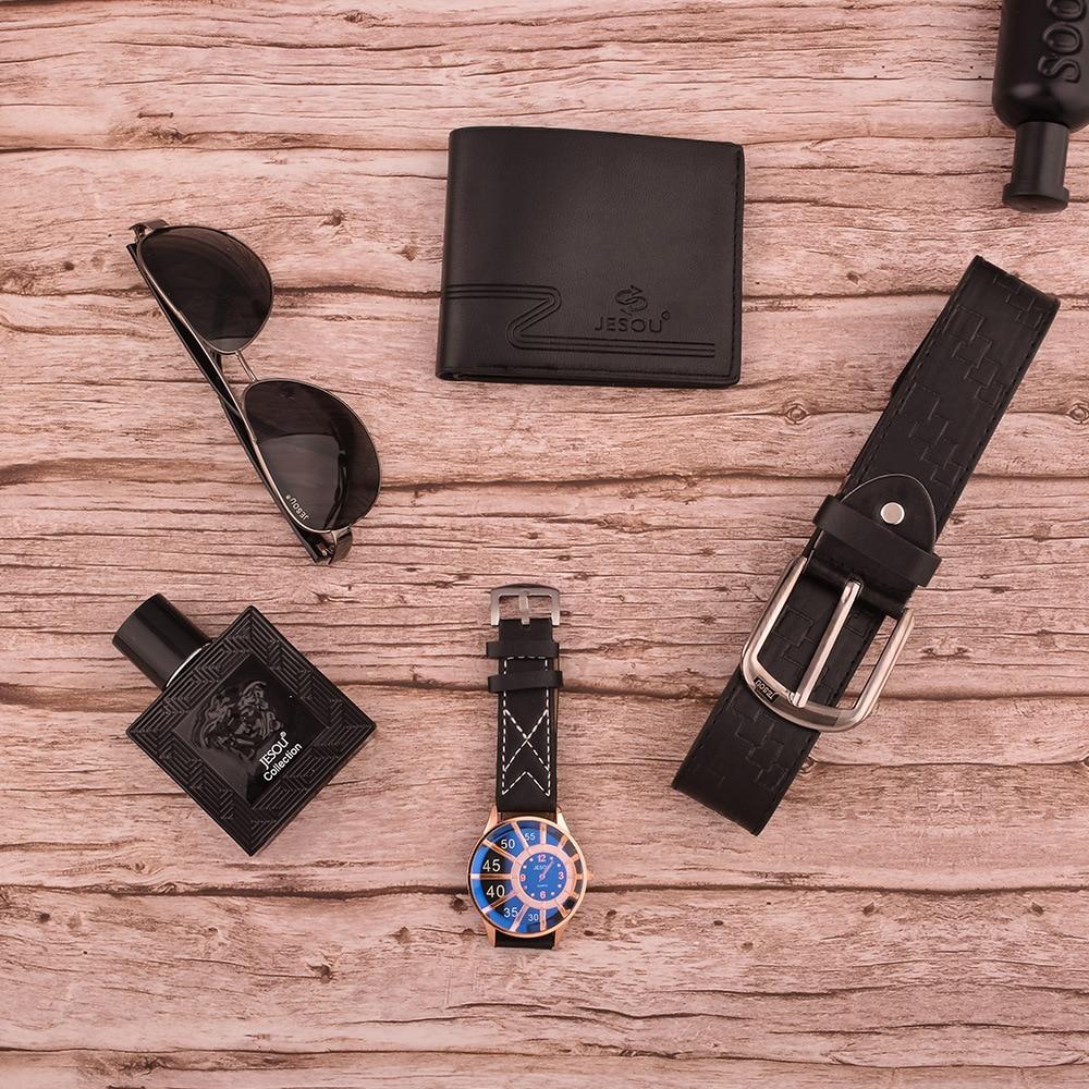 Men's Gift Set Beautifully Wrapped Watch + Sunglasses + Wallet + Belt + perfume bottle enlarge