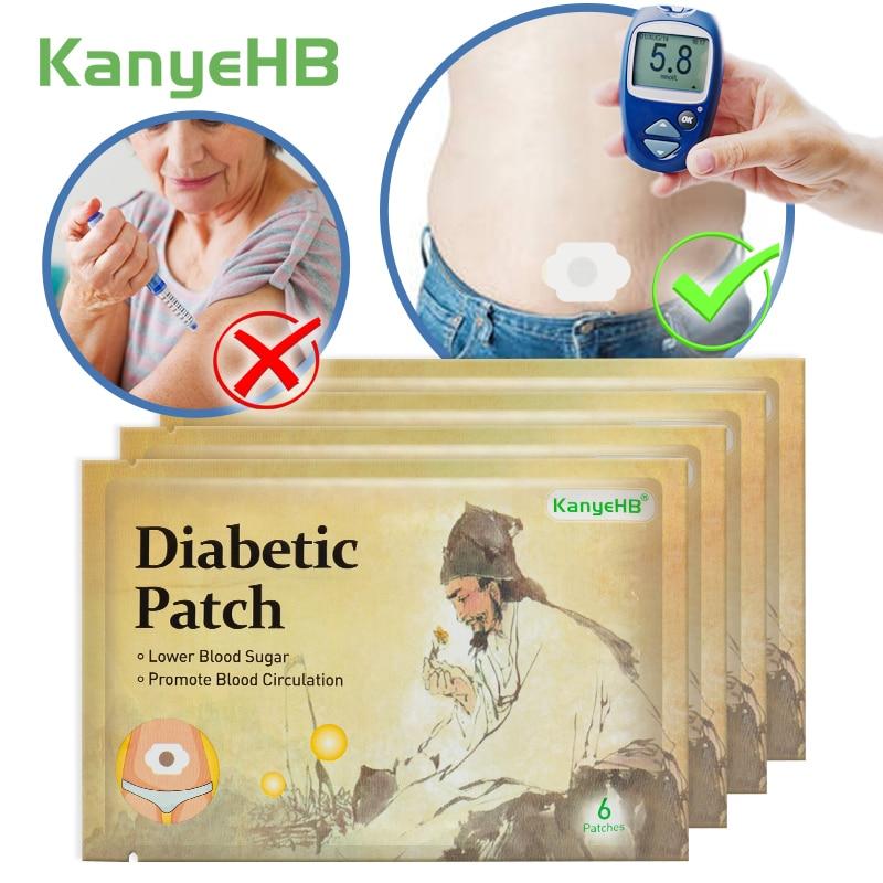 24pcs/4bags KanyHB New Arrival Diabetic Patch Stabilizes Blood Sugar Level Balance Blood Glucose Treatment Diabetes Patches A604
