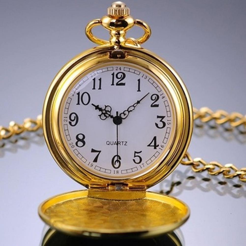 Christmas Gift Retro Pocket Watch Unisex Retro Alloy Smooth Vintage Pocket Watch Vintage Pendant Clo
