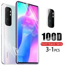 100D Hydrogel Film souple pour Xiaomi Mi 9T 10T Note 10 Pro 9 Lite SE 9SE A3 Mi9 Note10 lumière arrière protecteur décran caméra verre