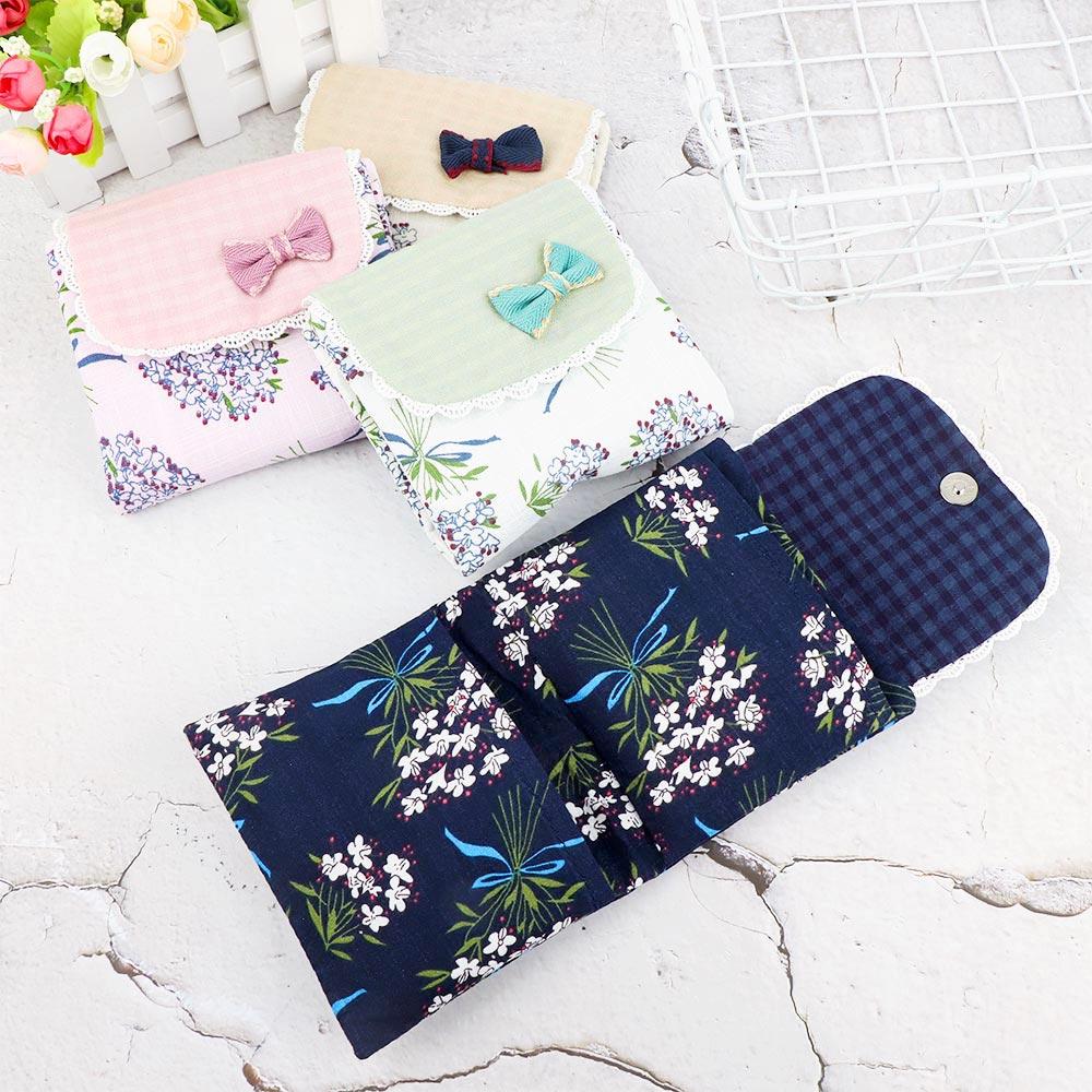 Precioso patrón de flores para mujer niña organizador para almohadilla sanitaria monedero servilleta toalla bolsas de almacenamiento bolsa de cosméticos bolsa de servilleta sanitaria