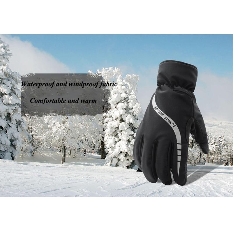 Кроссовки зимние лыжные перчатки Водонепроницаемый ветрозащитный Полные Пальцы теплые сноуборд перчатки для катания на скейтборде мотоци...