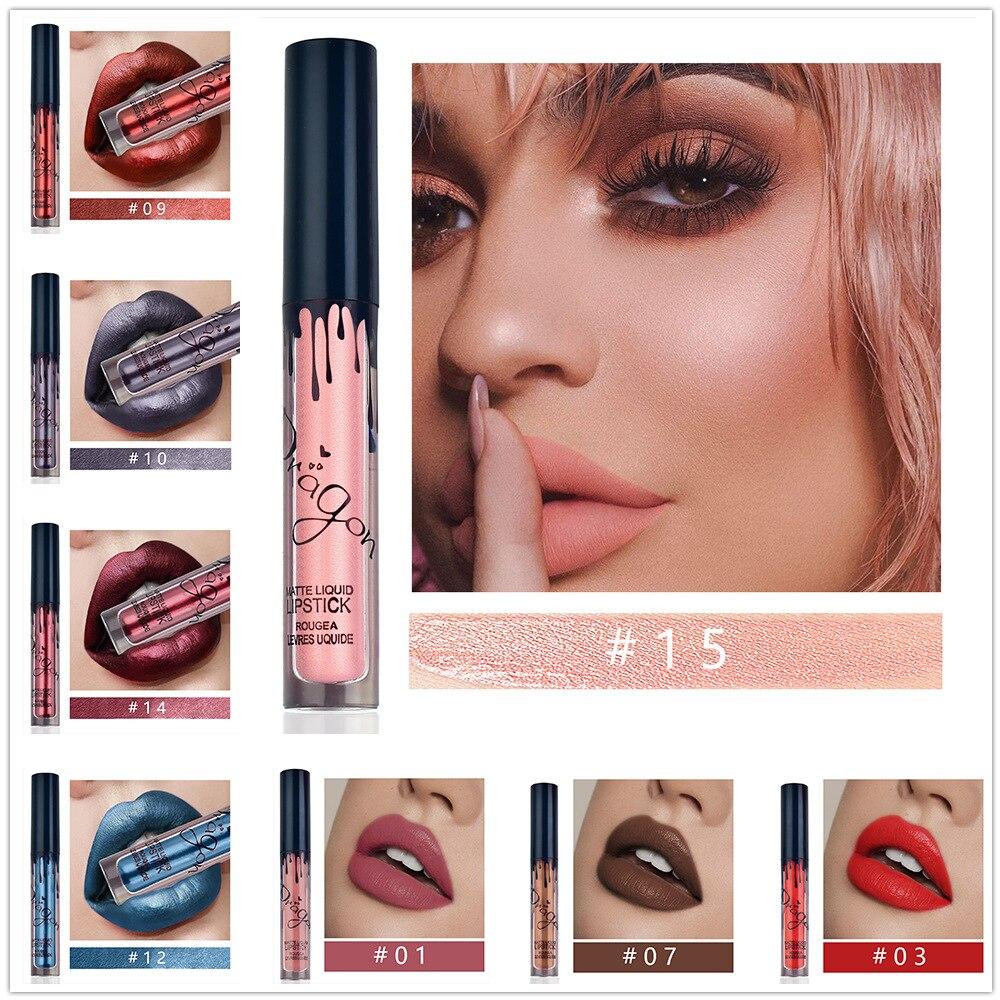 Maquiagem lábio gloss base batom à prova dwaterproof água longa duração pigmento nude rosa brilho dourado rosa shimmer batom cosméticos de luxo