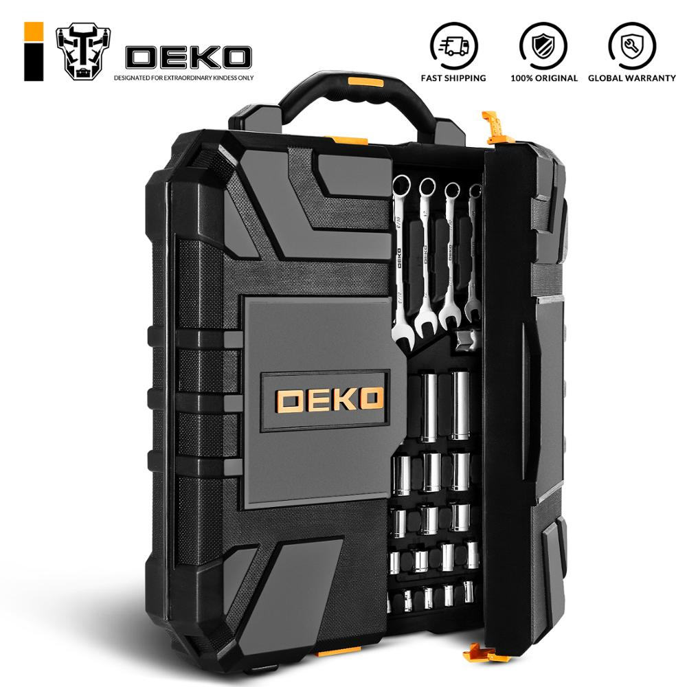 Deko 192 pces profissional conjunto de ferramentas de reparo do carro chave de fenda chave de fenda chave de fenda ferramenta mecânica kit com caixa de moldagem por sopro