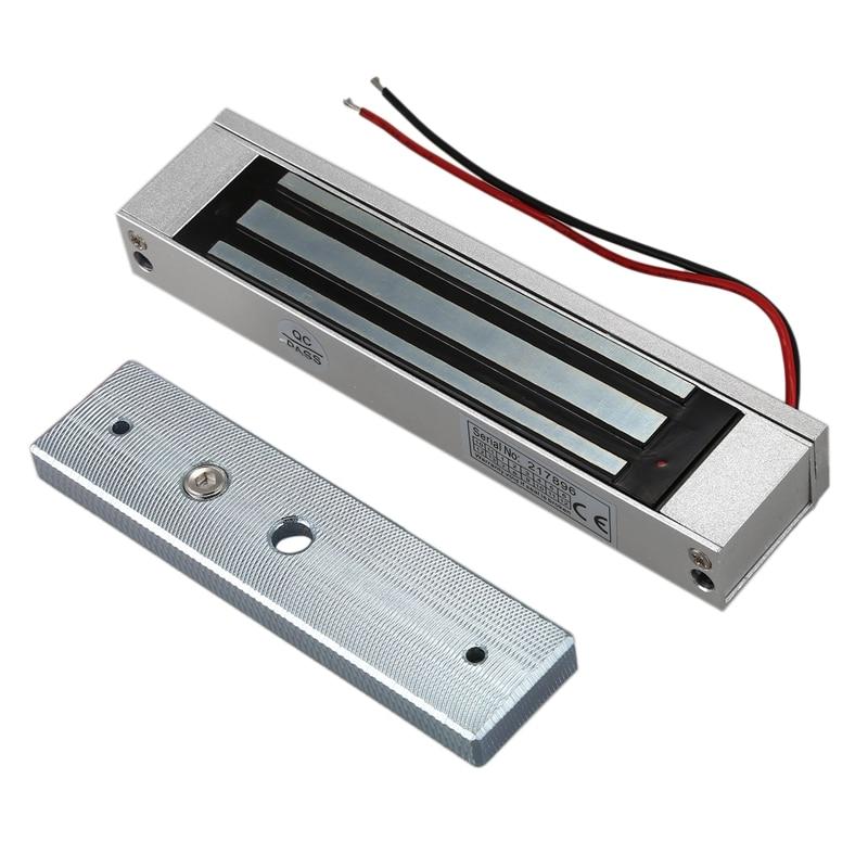 Cerradura Electromagnética magnético eléctrico de una sola Puerta de 12V 180KG (350LB) Fuerza de retención para el Control de acceso de plata