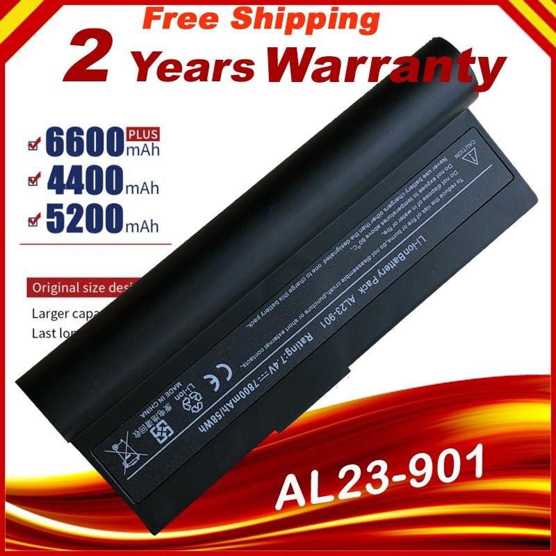 7.4v 7800 mah bateria do portátil para asus eee pc epc 901 904hd 1000 1000 h 1000hd 870aaq159571 AL23-901 AL24-1000 AP23-901 rápido shippi