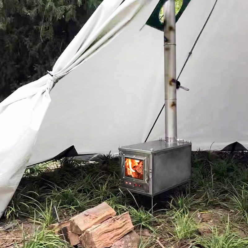 Thous Winds Outdoor ultralight titanium alloy wood stove multipurpose camping tent heating stove outdoor survival