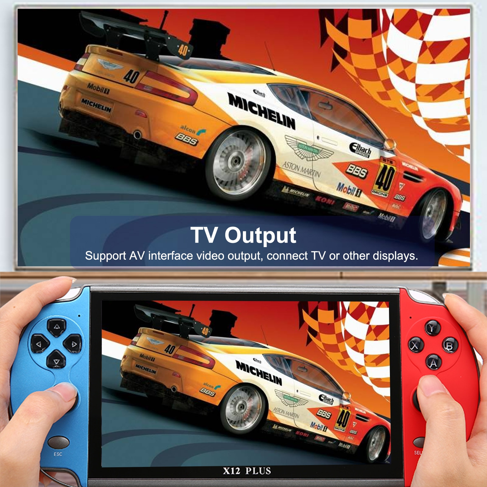 X12 Plus X7 Plus  X7   Video Game Console Built in 1000 Games 16GB Handheld Double Joystick Game Controller enlarge