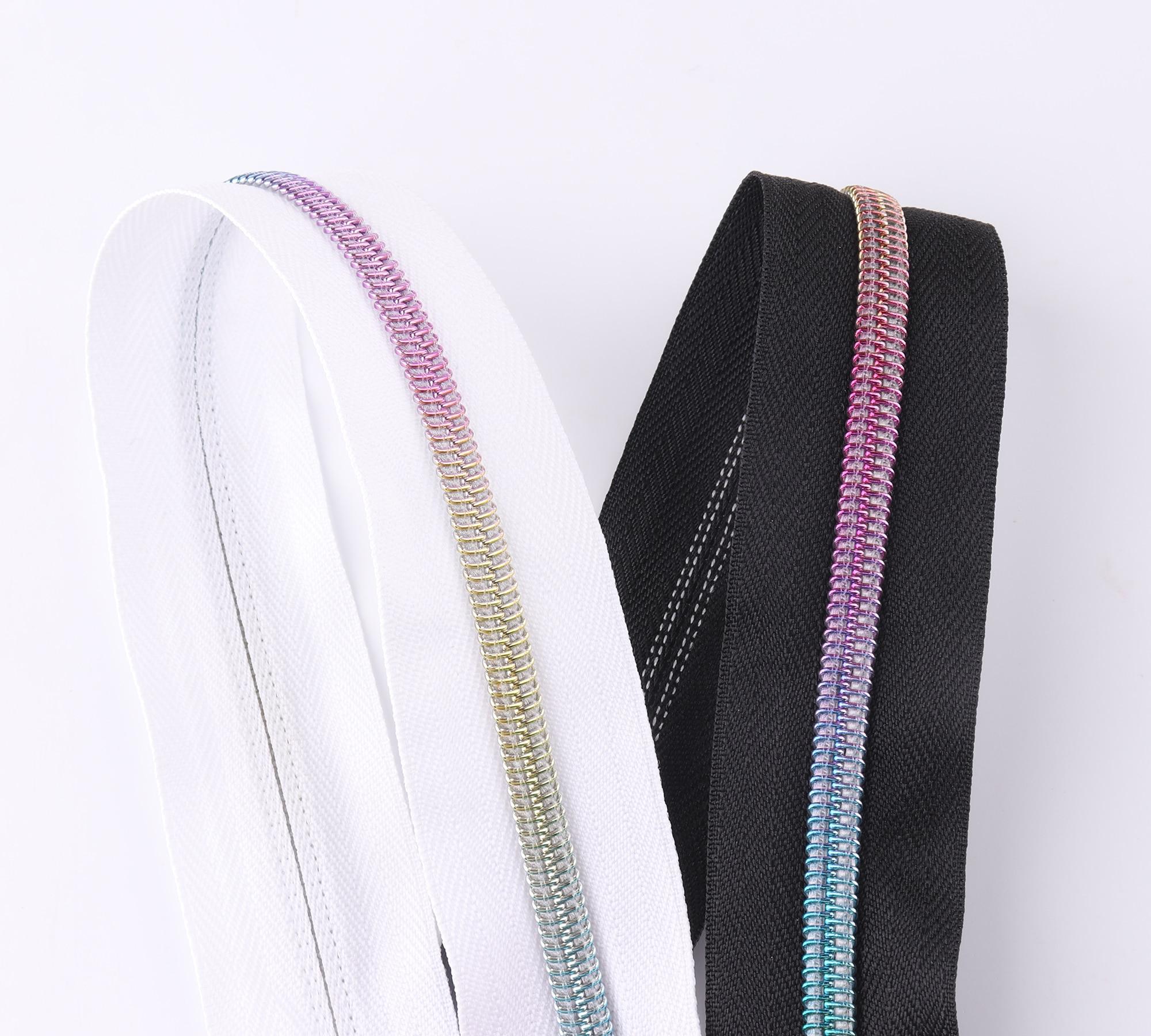 5 Meter Geen 5 # Regenboog Rits Tape Lederen Rits Nylon Tape Zip Ritsen Maat Diy Universele Rits vervanging Kit