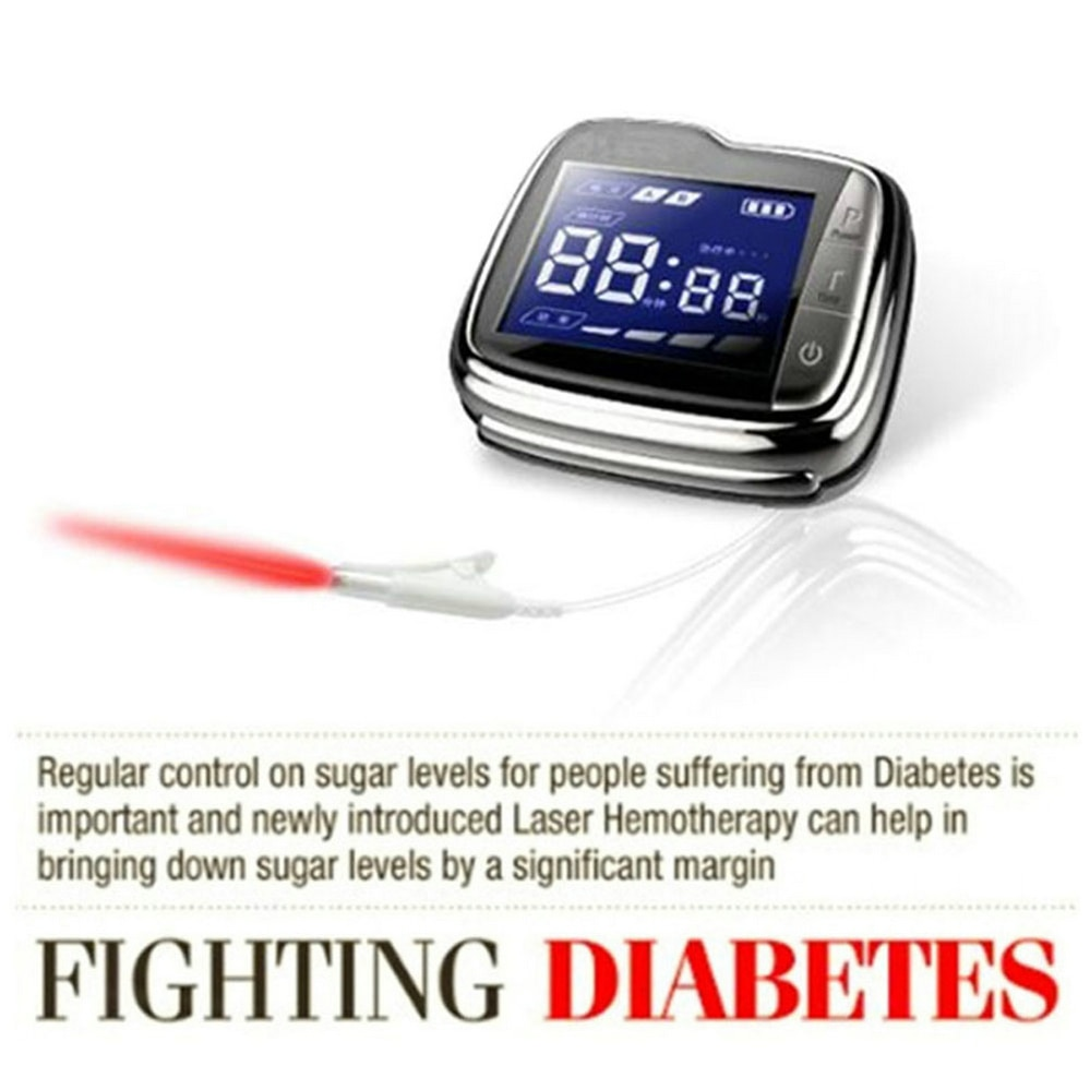 High Blood Pressure Diabetes Cholesterol Rhinitis Treatment Cerebral Thrombosis Medical Device LLLT Laser Therapy Wrist Watch
