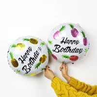 18 inch birthday party decoration balloon pink fruit hawaii beach party decoration floating air ball wholesale