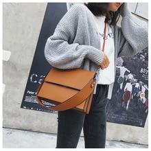 New ins Hot Handbags women Fashion simple commute briefcase Square bag PU wild shoulder Messenger bag multi-function OL Ladies