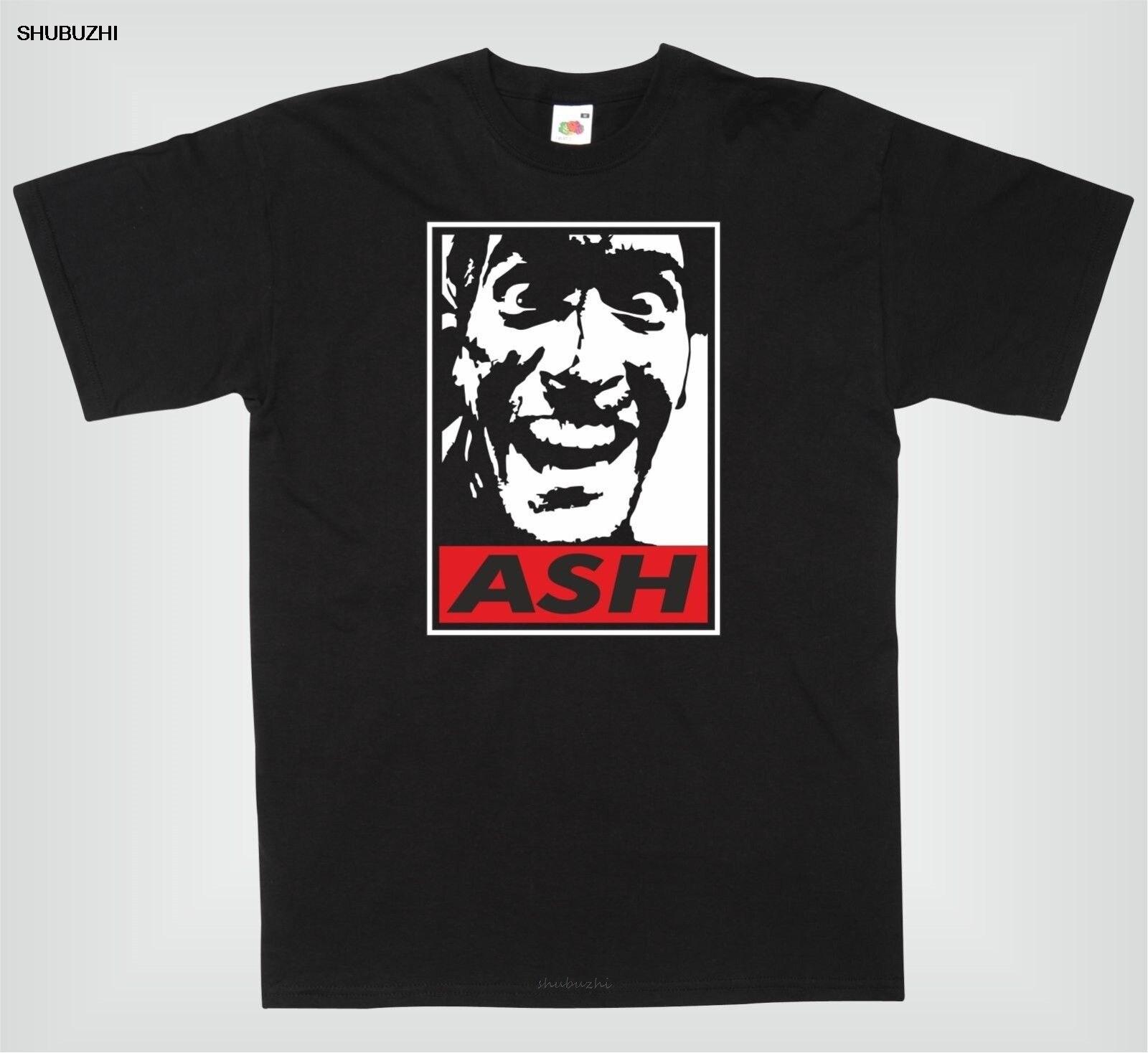 ASH contra EVIL DEAD inspirada impresionante y divertida camiseta para hombre, nueva Camiseta de algodón para hombre, Camiseta de cuello redondo barata para hombre