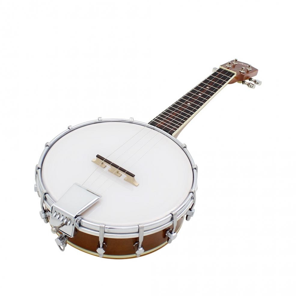 23 Inch 4 Strings Banjo Ukulele Sapele Wood Traditional Western Concert Bass Guitar For Musical Stringed Instruments enlarge