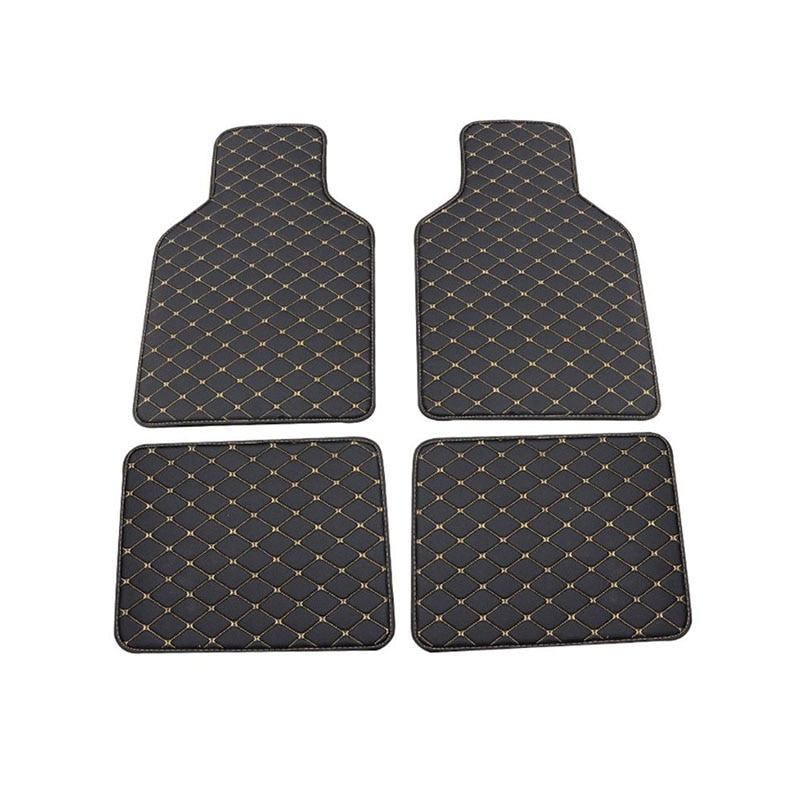 Universal Fit 4pcs PU Leather Car Floor Mat Waterproof Foot Pads Low Price Car Mat