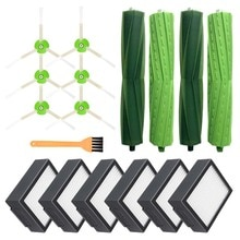 6 stücke Seite Pinsel & 6 stücke Hepa-Filter & 4 stücke Roller Pinsel für iRobot Roomba i7 E5 E6 ICH Serie Roboter Staubsauger Teile