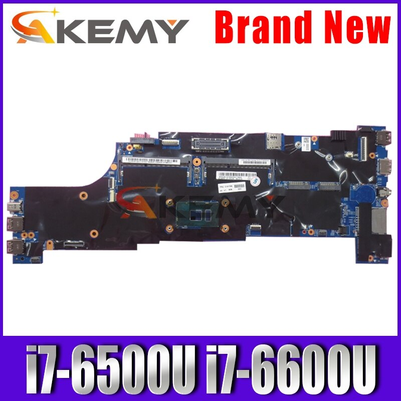 Akemy لينوفو ثينك باد T560 W560S P50S T560 Laotop اللوحة الرئيسية T560 اللوحة 01AY312 مع i7-6500U وحدة المعالجة المركزية i7-6600