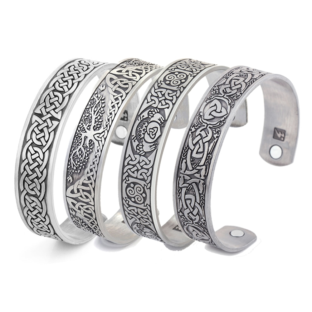 Браслет для здоровья Skyrim Viking Talisman, Регулируемый магнитный браслет на запястье для женщин и мужчин