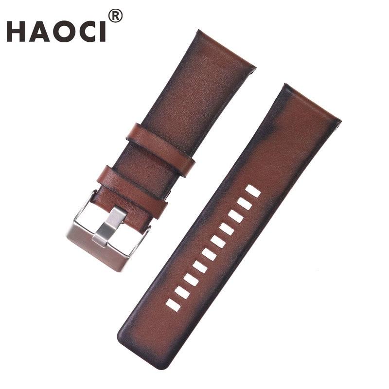 26 мм высококачественный кожаный ремешок для дизельных часов, ремешок с пряжкой, коричневая кожаная цепочка