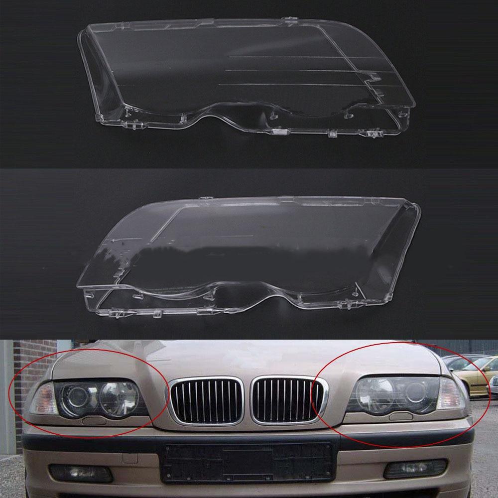 Car Headlight Cover For BMW E46 98-01 Automobile Left Right Headlamp Head Light Lens Covers Auto Accessories