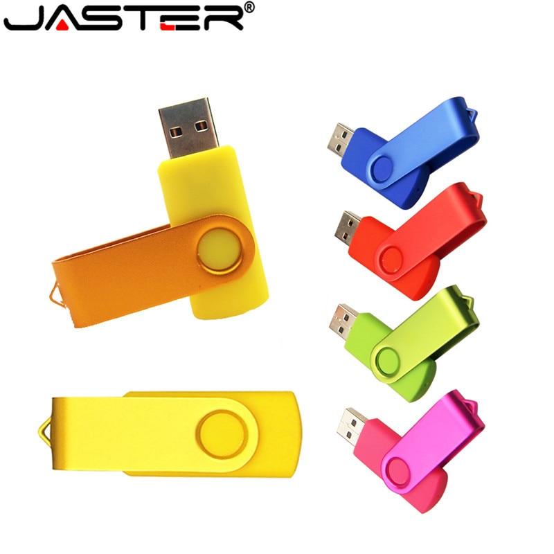 JASTER USB Flash personalizar LOGO 4GB 8GB 16GB 32GB 64GB USB 2,0 para regalos de boda pendrive Clef USB (más de 10 piezas con logotipo gratis)