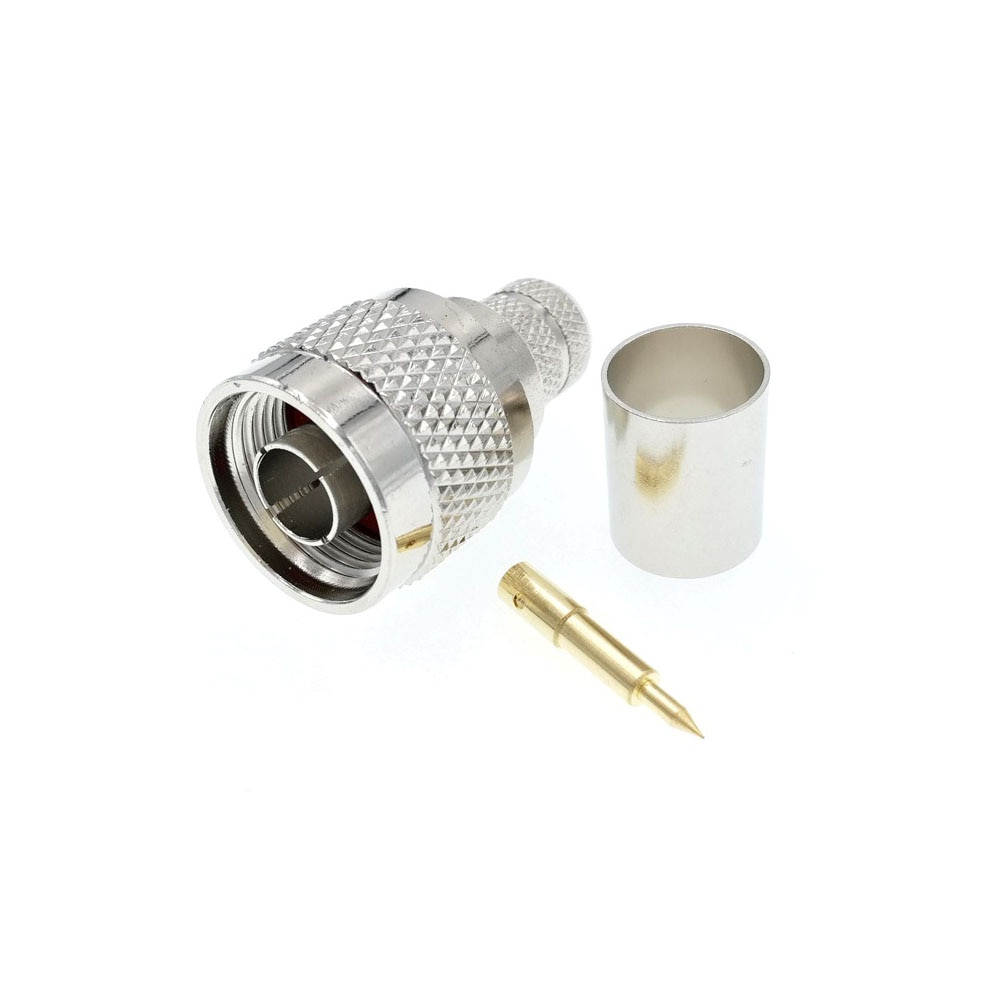 50 stücke N Stecker RF Stecker Crimp Für LMR400 RG213 RG8 7D-FB Ecoflex 10 Koaxialkabel