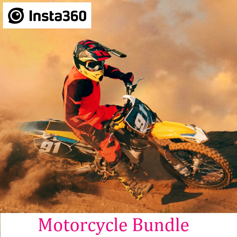 Insta360 Motorcycle Mount Bundle For ONE X2 / ONE R / ONE X Action Camera Professional Sports Accessories