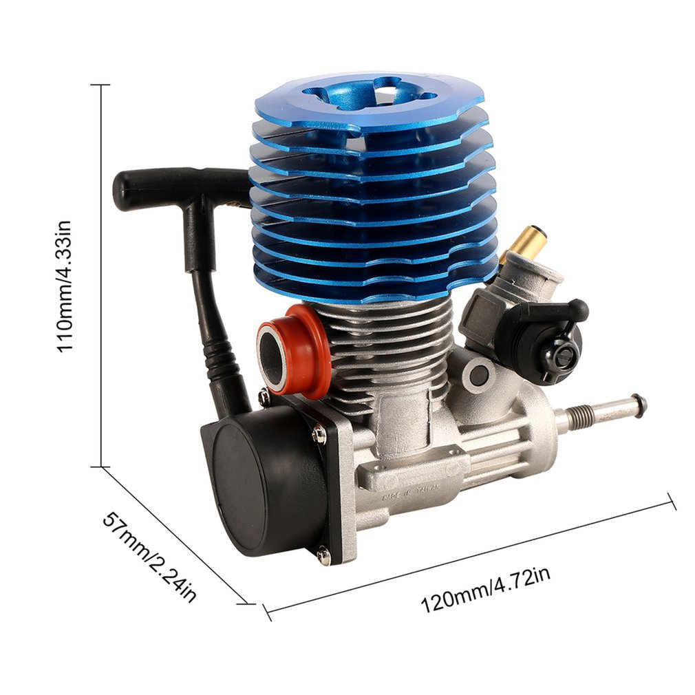 HSP RC Car 1: 8 Buggy Monster Truggy Nitro Engine SH 28 CXP Engine M28-P3 4.57CC 3.8hp 33000 rpm Side Exhaust Pull Starter Part enlarge