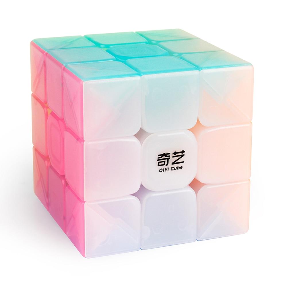 D-FantiX Qiyi Warrior W 3x3 Speed Cube 3x3x3 Stickerless Jelly Cube Puzzle