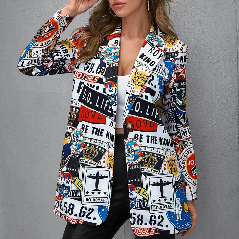 H60b15ab9659842d4b5bd1d68a2c38d79X Fashion Trend Women Lapel Leopard Print Long Sleeves Suit Jacket Elegant Fall Winter Office Lady Cardigan Coat Casual Streetwear