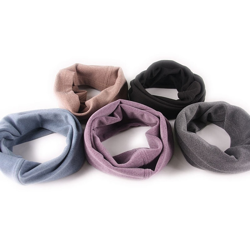 Neck Warmer Autumn Winter Windproof Face Mask Outdoor Solid-Color Anti-static Neck Gaiter Sport Running Riding Cycling Scarf