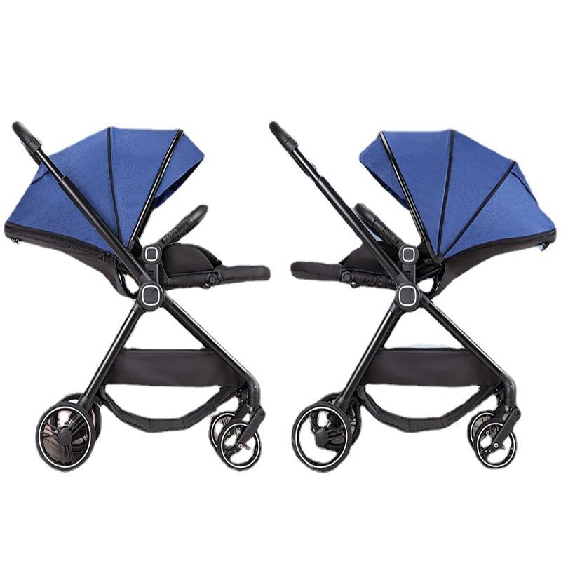 Фото - Детская коляска с четырьмя колесами, детская коляска для младенцев, переносная дорожная детская коляска, двусторонняя коляска коляска