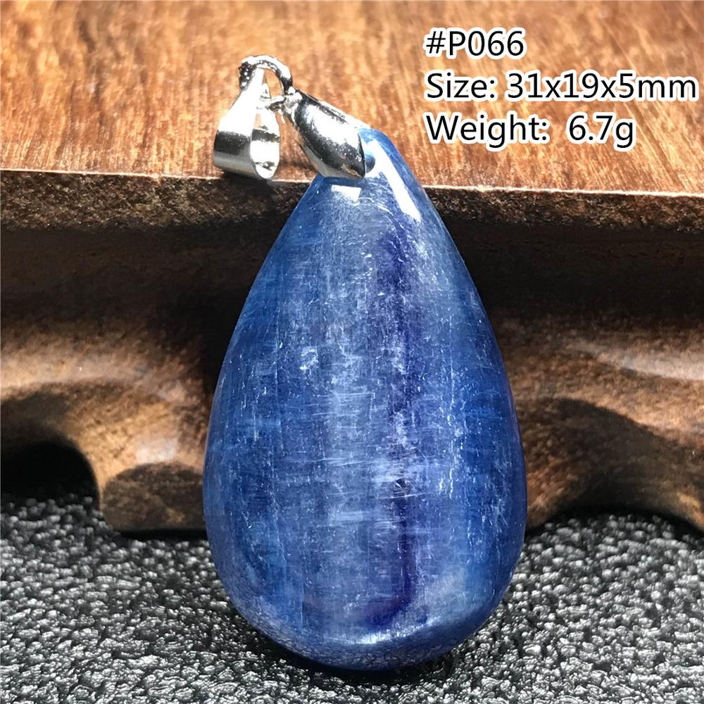 Topo natural azul kyanite pingente de jóias para mulher lady men cristal gota de água contas olho gato gemstone colar pingente aaaaa