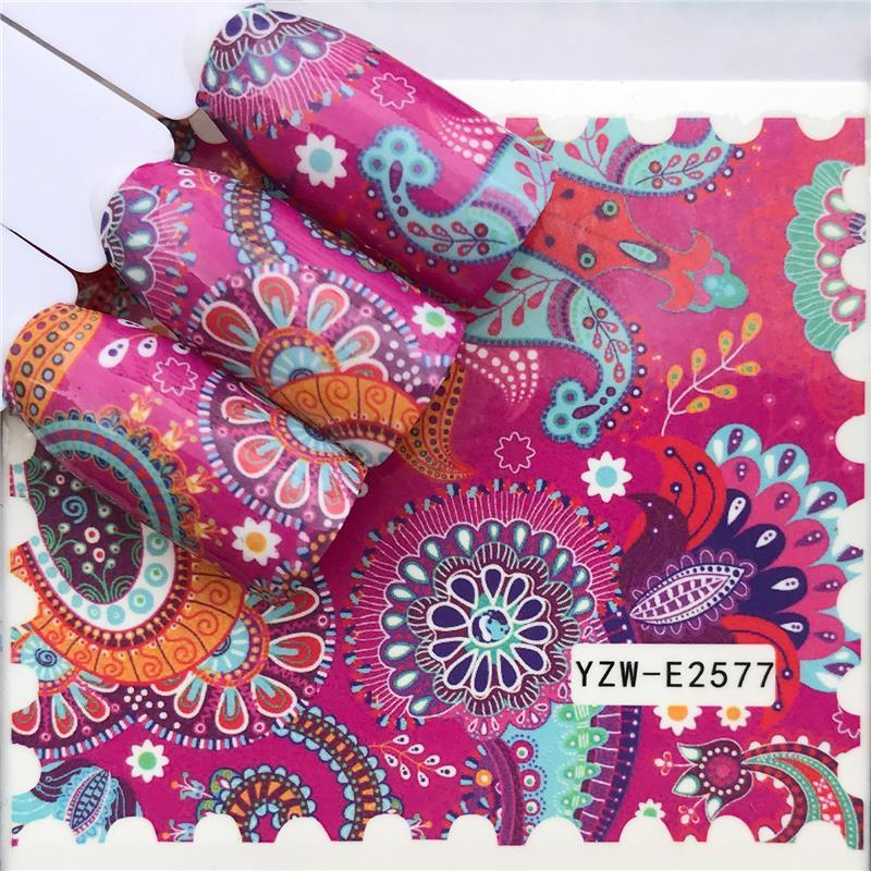 Наклейки на ноготь LCJ, Водные Наклейки с бабочками, цветами, животными, черно-белые геометрические Слайдеры для маникюра, украшения ногтей