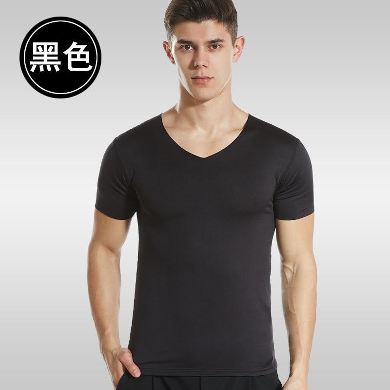 Nueva camiseta lisa de fitness para hombre, Camiseta de algodón con cuello redondo, camiseta de culturismo, camisetas para gimnasios, camiseta para hombre