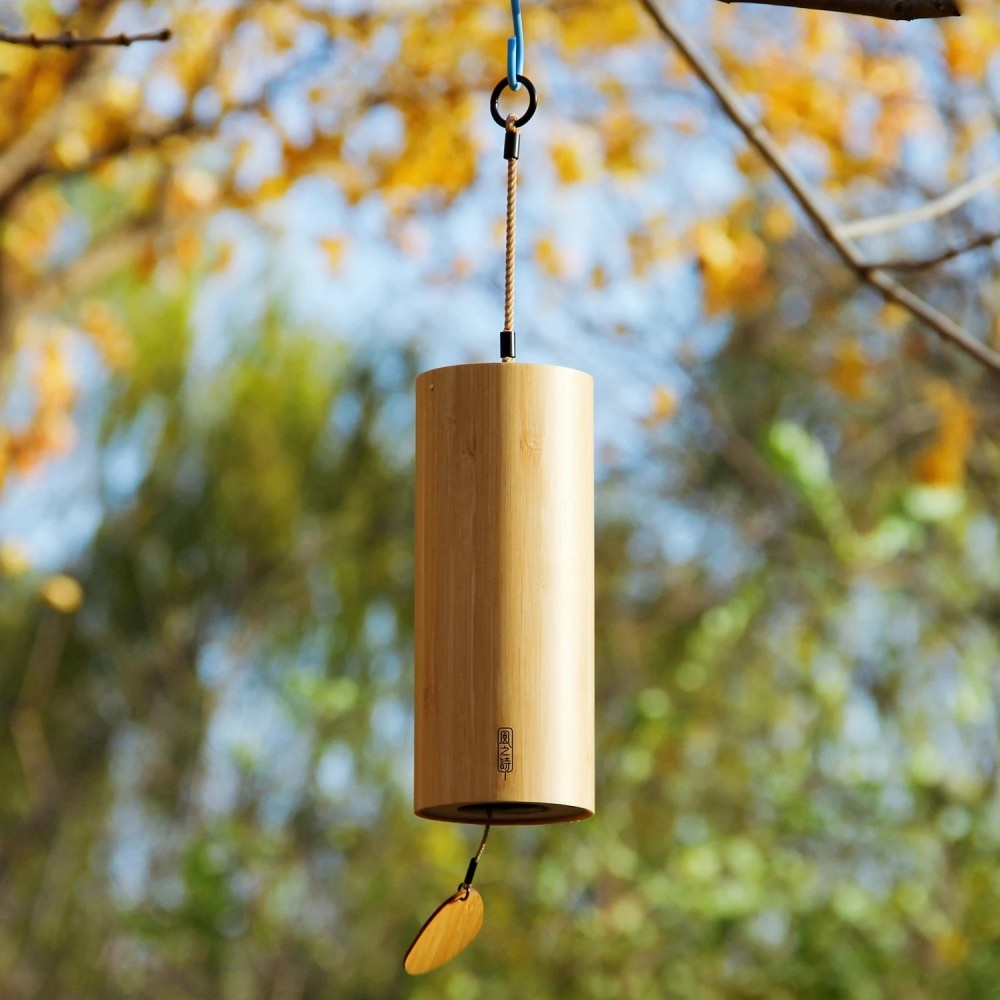 Bamboo Wind Chimes Windchime Windbell Musical Hanging Instruments for Outdoor Garden Patio Home Deco