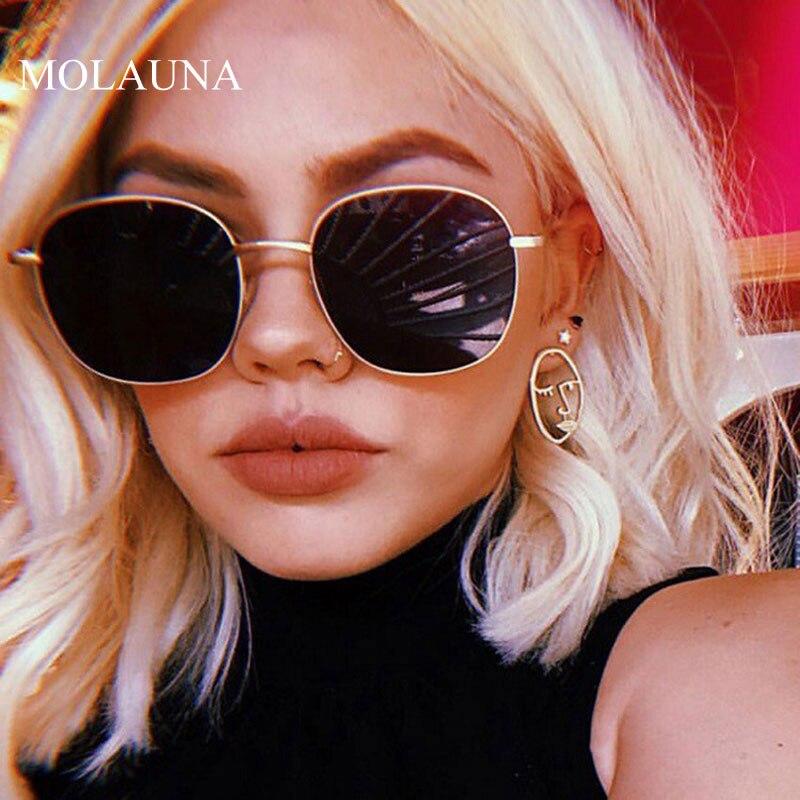 2020 clássico liga redonda óculos de sol feminino marca designer óculos de sol quadro pequeno óculos de sol vintage metal oculos feminino uv400