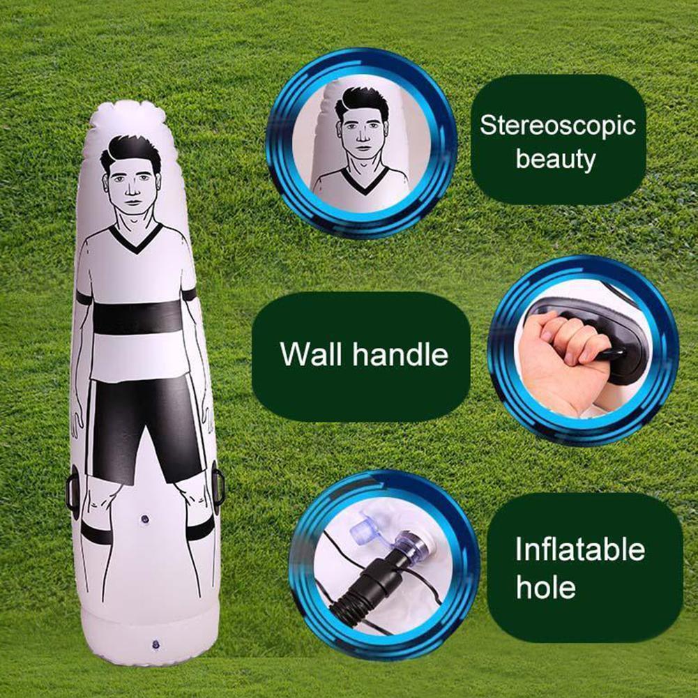 Manequim de Futebol Adulto Criança Inflável Manequim Livre Parede Defender Tumbler Goleiro Pontapé Treinamento Sopro E5p7