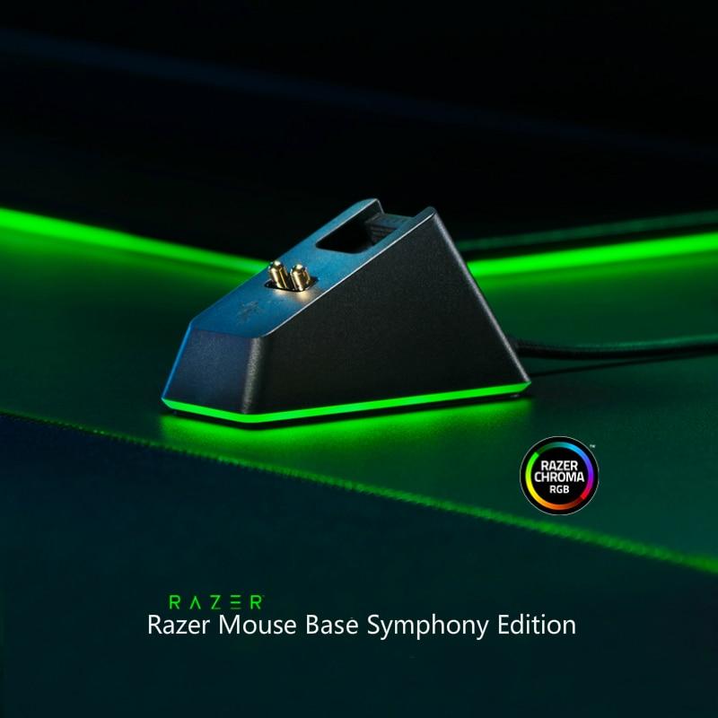 رازر ماجيك اللون ماوس قاعدة شحن RGB مضيئة USB واجهة استقبال ماوس لاسلكي