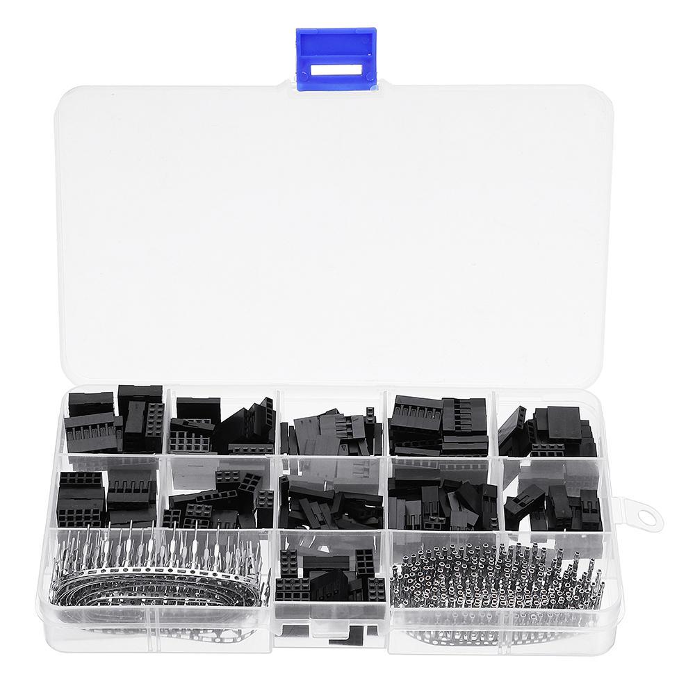 620 piezas Dupont conector 2,54mm Cable puente Cable Pin carcasa Kit 2 3 4 pines macho prensado conectores terminales hembra