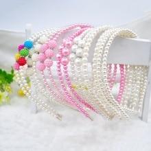 1PCS Girls Pearl Hairband Crystal Jewelry Bead Princess Headband Hair Band Accessories