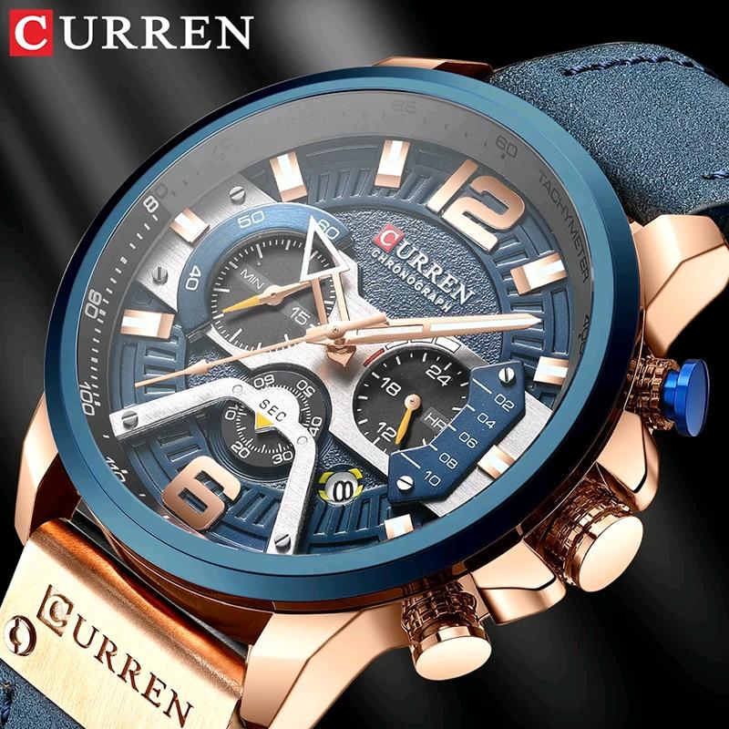 CURREN 8329 Luxury Brand Fashion Quartz Men Watch Military Waterproof Sport Mens Watches Casual Leather Male Clock reloj hombre