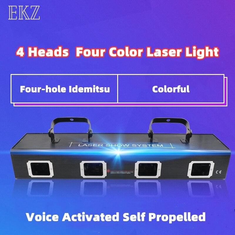 quatro lente forte rgby laser mostrar sistema palco discoteca festa de natal decoracao