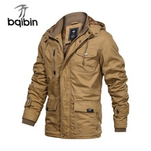 2021 Winter Jacket Men Outwear Thick Warm Hooded Bomber Jackets Mens Military Coats Male Clothing Eu