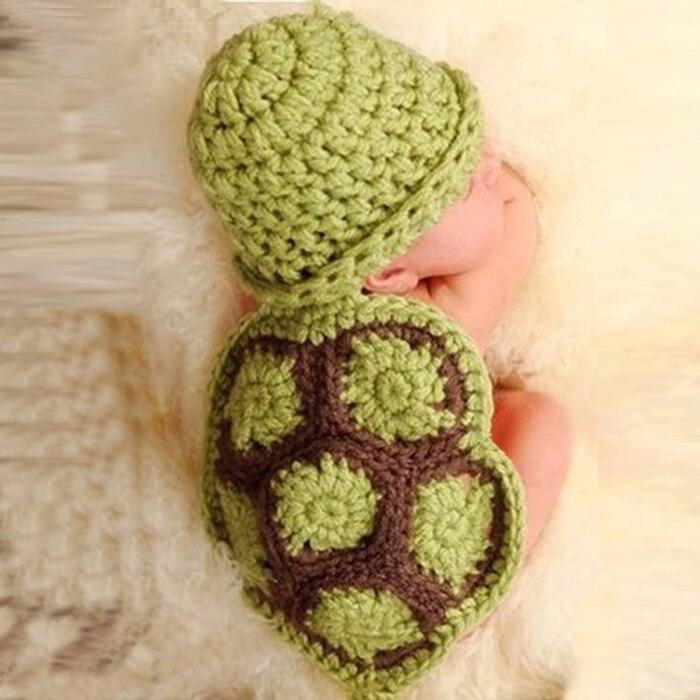 Accesorios de fotografía para recién nacidos sombrero de moda para bebés gorro de punto de tortuga recién nacido Ropa de ganchillo gorro accesorios de foto accesorios Czapki Dla dzicri