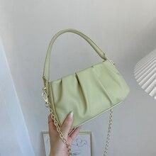 Soft Leather Cloud Crossbody Shoulder Bag for Women 2021 Fashion Summer Lady Baguette Armpit Messeng