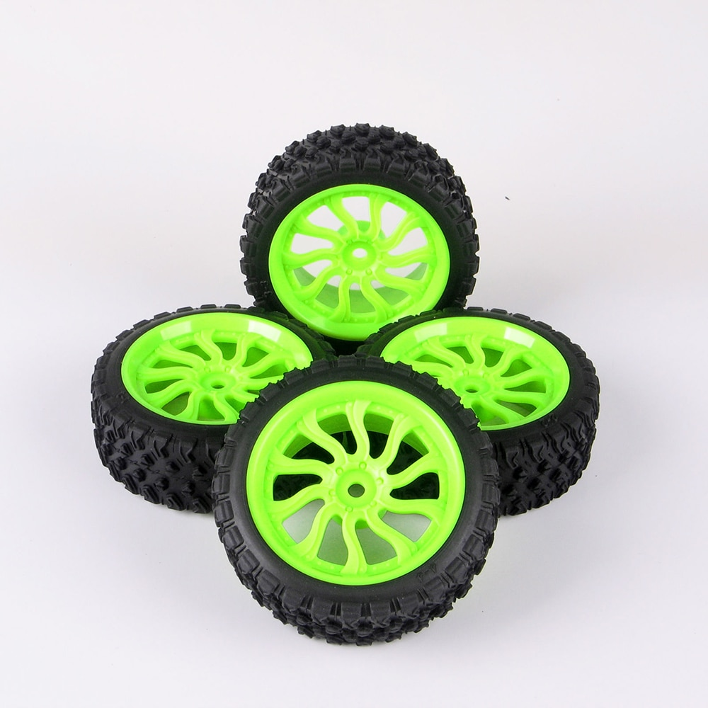 4pcs/set Rally Racing Ruber Tires Wheel Rims For HSP HPI 1:10 RC Car 12mm Hex Tyre Rim Car Accessories enlarge