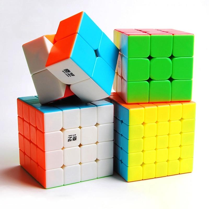 Qiyi 2x2 3x3 4x4 5x5 Magic Cube Cubo Magico Profissional Puzzle Warrior W 2x2x2 3x3x3 4x4x4 Speed Cube Stickerless Game Cube Toy qiyi jelly color fun magic cube 3x3 stickerless speed cube puzzle finger toy antistress education toys for children cubo magico