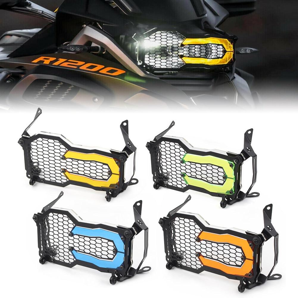 4 ألوان دراجة نارية المصباح الشواية الحرس ث/غطاء للعدسات شفافة التصحيح لسيارات BMW R1200 GS LC Adventure 2014-2020
